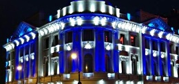 Монтаж и демонтаж световых гирлянд  в Киеве